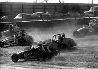 #63 with Dickson 1, Pancho 4 and Sessions 8  Eldora 4-11-76