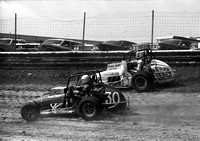 #63 with Karl Busson #30  Eldora 4-11-76